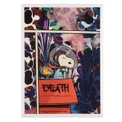 Death NYC Pop Art Graphic Print of Snoopy in Space, 2020