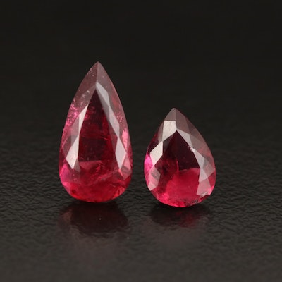 Loose 3.06 CTW Pear Faceted Tourmalines