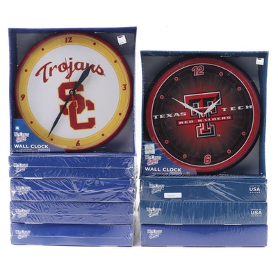 Collection of College Sports Wall Clocks