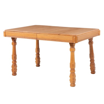 Oak Dining Table, 20th Century