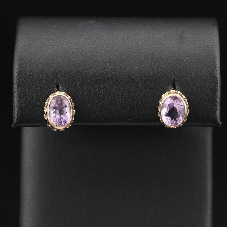 10K Amethyst Stud Earrings