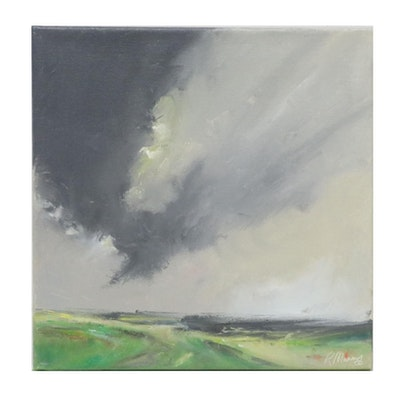 """Rebecca Manns Oil Painting """"Looking North,"""" 2021"""