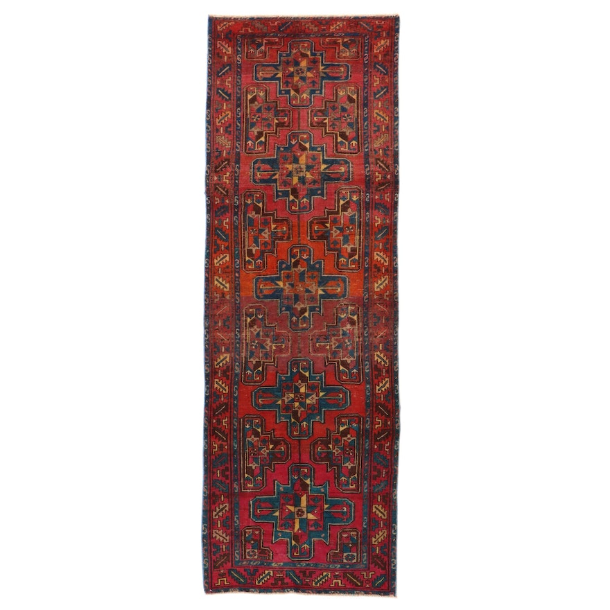 3'4 x 9'11 Hand-Knotted Northwest Persian Long Rug, 1930s