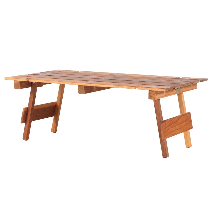 Handcrafted Collapsible Pine Picnic Tray Table