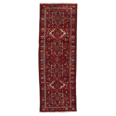 2'9 x 8'2 Hand-Knotted Persian Karaja Carpet Runner, 1960s