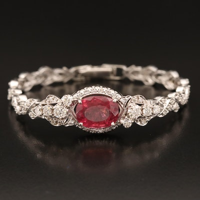 14K Tourmaline and 1.47 CTW Diamond Bracelet