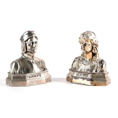 Armor Bronze Company Dante and Beatrice Patinated Bronze Bookends