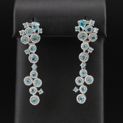 Sterling Apatite Cluster Earrings