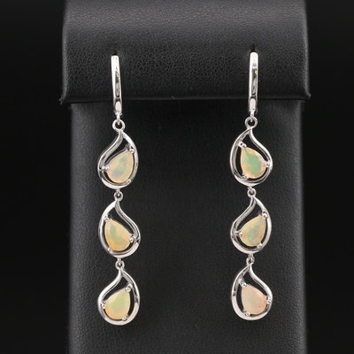 Sterling Opal Dangle Earrings