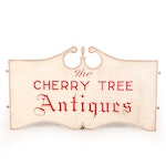 """""""The Cherry Tree Antiques"""" Painted Wood Sign"""