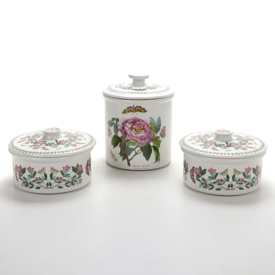"Portmeirion ""The Botanic Garden"" Canister and Bakeware"