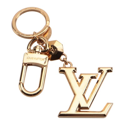 Lous Vuitton LV Facettes Bag Charm and Key Holder in Gold Tone Metal
