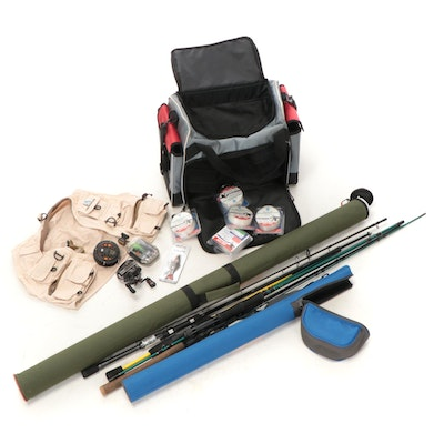 Fishing Gear, Including Berkley Rod, Variety of Lures, Gear Bags, and More