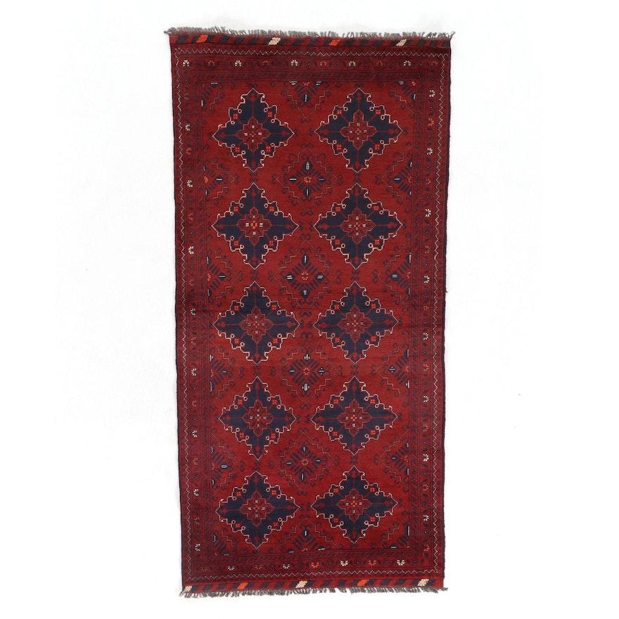 3'6 x 7'2 Hand-Knotted Afghan Kunduz Area Rug