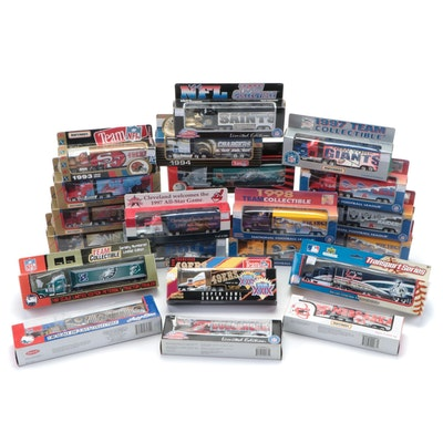 NFL and MLB Team Collectibles Diecast Tractor-Trailer Collection