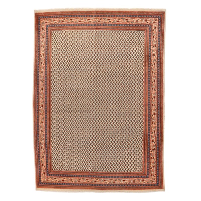 9'2 x 12'10 Hand-Knotted Persian Mir Sarouk Room Sized Rug, 1970s