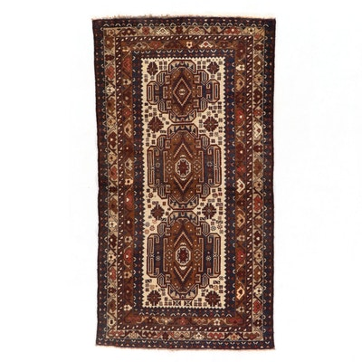 3'6 x 6'7 Hand-Knotted Pakistani Baluch Area Rug