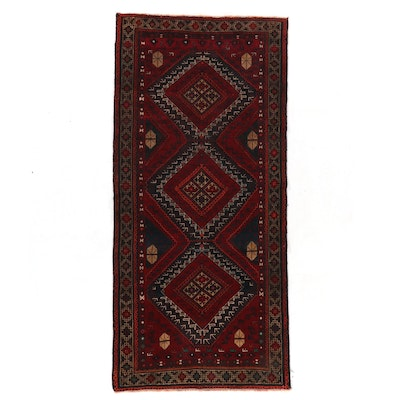 4'1 x 8'9 Hand-Knotted Persian Malayer Long Rug