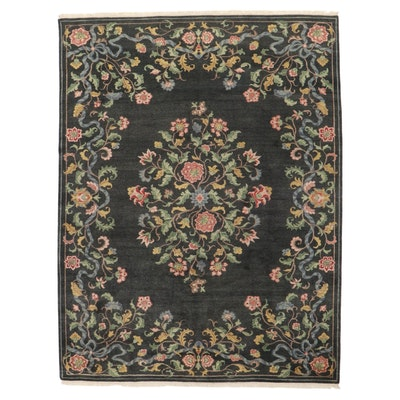 9' x 12'1 Hand-Knotted Indo-Persian Tabriz Room Sized Rug, 2000s