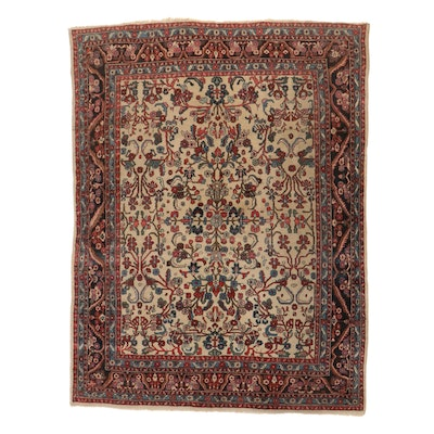 8'9 x 11'9 Hand-Knotted Persian Darjezine Room Sized Rug, 1920s