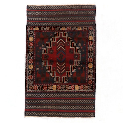 3' x 4'11 Hand-Knotted Afghan Baluch Accent Rug