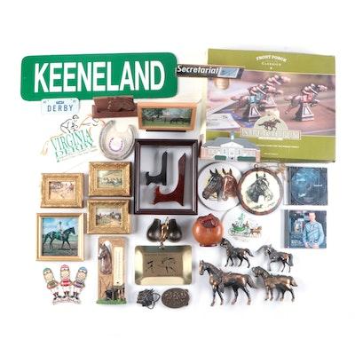 Equestrian Souvenirs, Memorabilia, Horse Themed Decor, Wooden Game Board, More