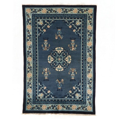 4' x 6'1 Hand-Knotted Chinese Peking Accent Rug