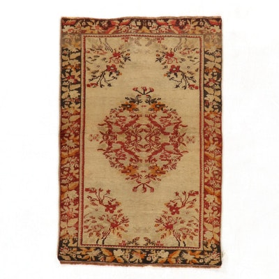 2'11 x 4'5 Hand-Knotted Turkish Village Accent Rug