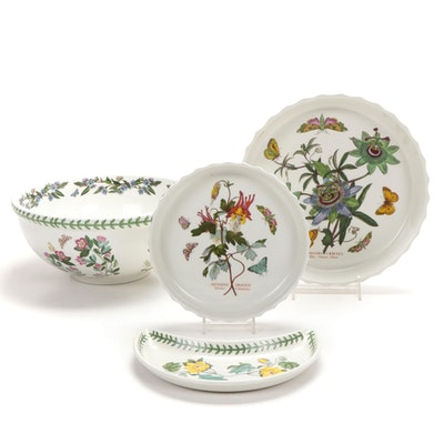 "Portmeirion ""The Botanic Garden"" Bakeware, Bowl, and Crescent Dish"