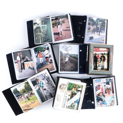 Personal Photo Albums with Jockey Signed Candid Photos