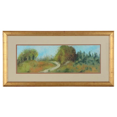 Kathleen Schuman Oil Painting of Hilly Landscape
