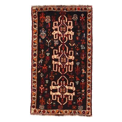 2'4 x  4'4 Hand-Knotted Persian Shiraz Qashqai Rug, 1970s