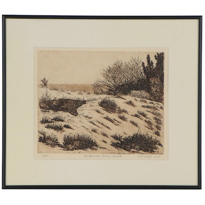 "R.B. Wright Etching with Aquatint ""The Deuville Dunes, Rehoboth,"" 2005"