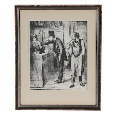 "Lithograph after Honoré Daumier's ""Ami de Personne"""