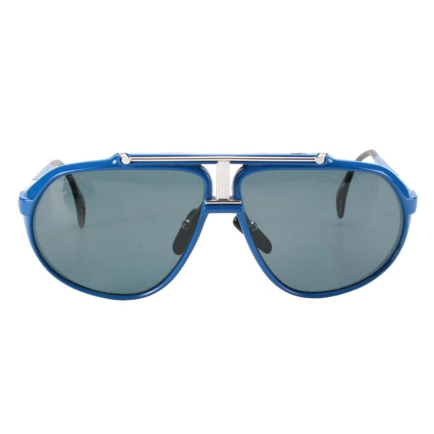 Killy 469 Blue Carbon Fiber Aviator Sunglasses with Case