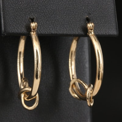 14K Infinity Hoop Earrings