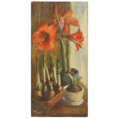 Edrie Leah Franzel Oil Painting of Floral Still Life