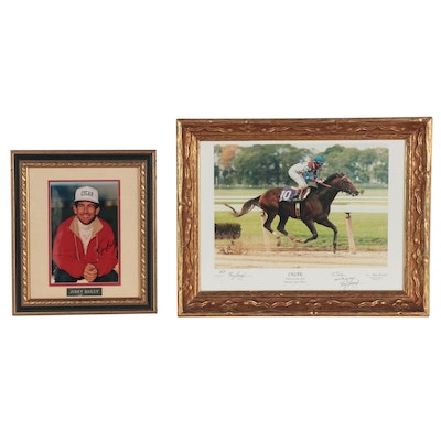 """Signed Tony Leonard AP """"Cigar, 1995 Breeders Cup Classic"""" Photo & Signed Bailey"""