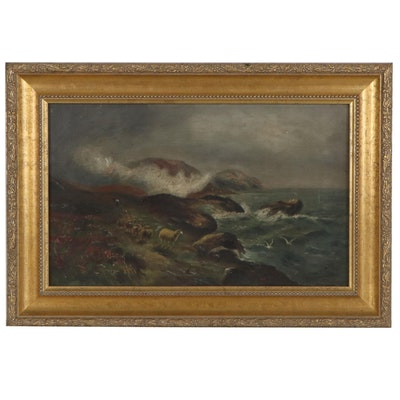 Seaside Oil Painting, Late 19th to Early 20th Century