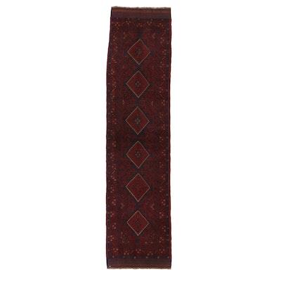 2'1 x 8'6 Hand-Knotted Afghan Turkmen Carpet Runner, 2000s