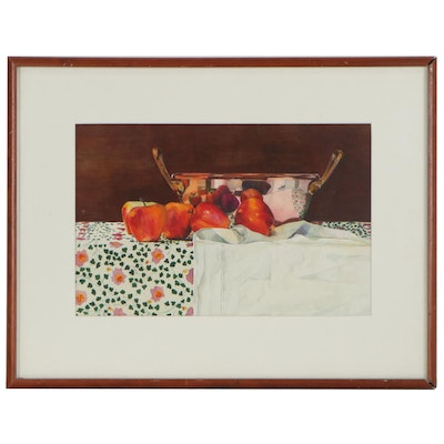 Dell Keathley Still Life Watercolor Painting, Late 20th Century
