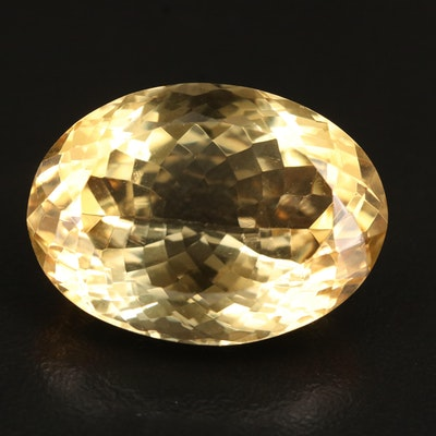 Loose 47.47 CT Oval Faceted Citrine