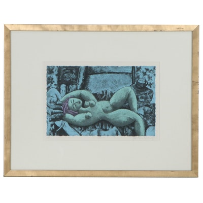 "Graham Borough Lithograph ""Nadine,"" 21st Century"