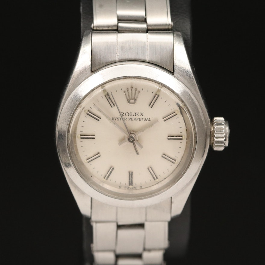 1974 Rolex Oyster Perpetual Stainless Steel Automatic Wristwatch