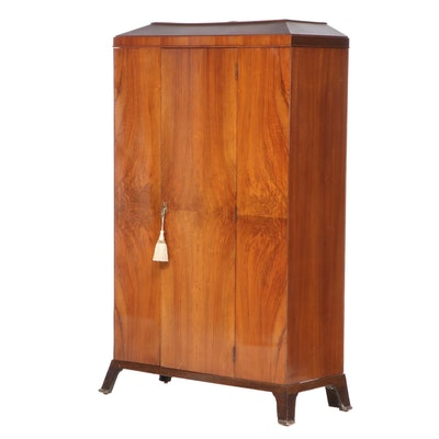 European Art Deco Walnut Wardrobe