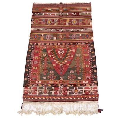 2'10 x 5'4 Handwoven Afghan Kilim Wool Area Rug