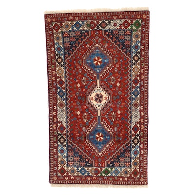 3'3 x 5'7 Hand-Knotted Persian Ardebil Area Rug