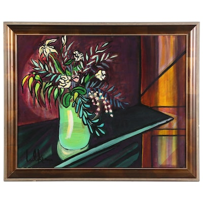 "Eric Lubkeman Acrylic Painting ""Art For Life Flowers II"""