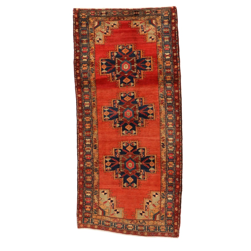 4'8 x 10'1 Hand-Knotted Northwest Persian Rug, 1960s