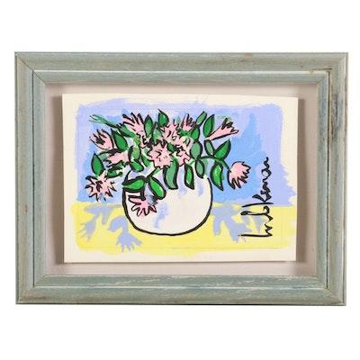 Eric Lubkeman Floral Still Life Acrylic Painting